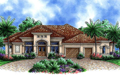 4 Bed, 3 Bath, 3316 Square Foot House Plan - #1018-00264