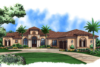 4 Bed, 4 Bath, 4159 Square Foot House Plan - #1018-00265