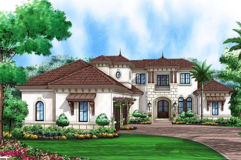 European House Plan #1018-00268 Elevation Photo