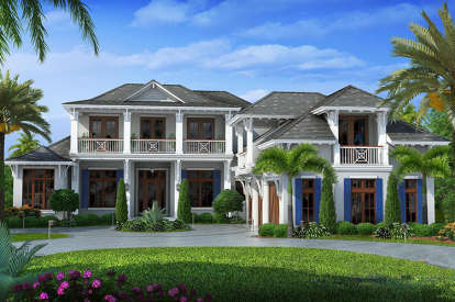 6 Bed, 6 Bath, 7592 Square Foot House Plan - #1018-00269