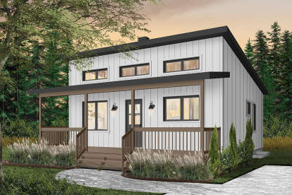 2 Bed, 1 Bath, 676 Square Foot House Plan #034-01120