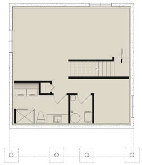Basement for House Plan #034-01120