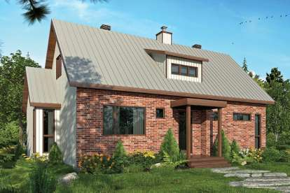 1 Bed, 1 Bath, 1587 Square Foot House Plan - #034-01125