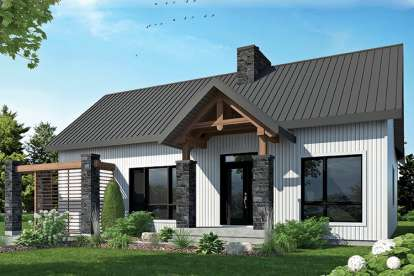 2 Bed, 1 Bath, 1212 Square Foot House Plan - #034-01127