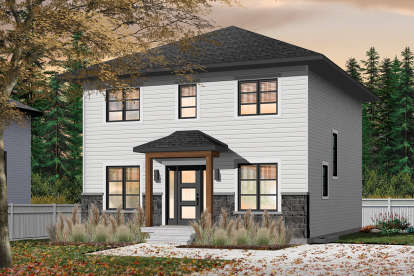 3 Bed, 1 Bath, 1680 Square Foot House Plan - #034-01130