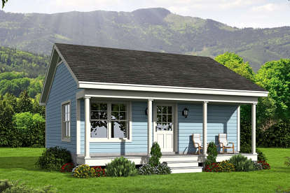 1 Bed, 1 Bath, 561 Square Foot House Plan - #940-00022
