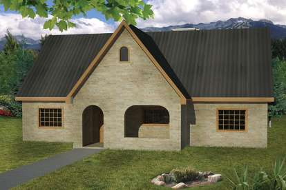 3 Bed, 2 Bath, 1407 Square Foot House Plan - #1754-00004