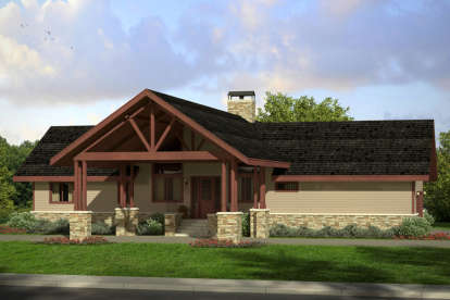 2 Bed, 2 Bath, 1545 Square Foot House Plan - #035-00707