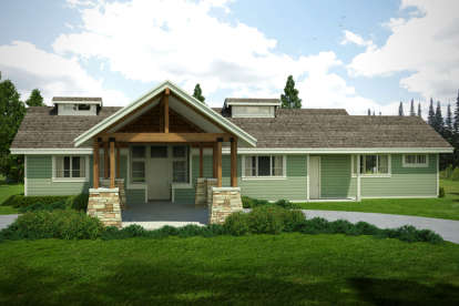 2 Bed, 2 Bath, 2127 Square Foot House Plan - #035-00708