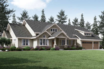 3 Bed, 2 Bath, 3159 Square Foot House Plan - #035-00710