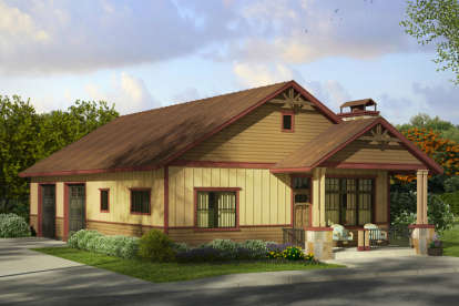 1 Bed, 1 Bath, 2285 Square Foot House Plan - #035-00730