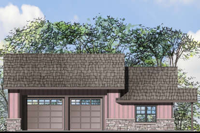 1 Bed, 1 Bath, 1847 Square Foot House Plan #035-00734