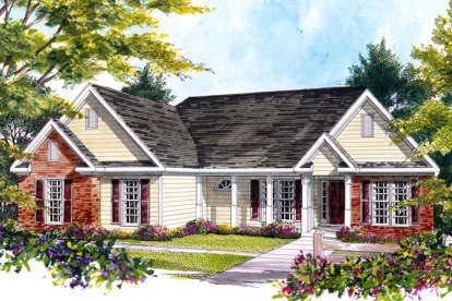 3 Bed, 2 Bath, 1477 Square Foot House Plan #6082-00057