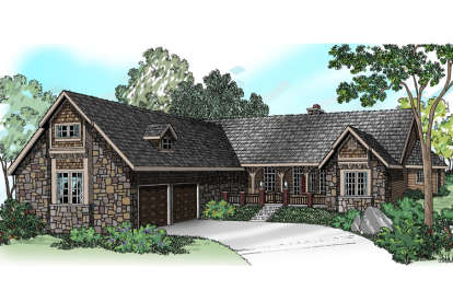 4 Bed, 2 Bath, 3072 Square Foot House Plan - #035-00744