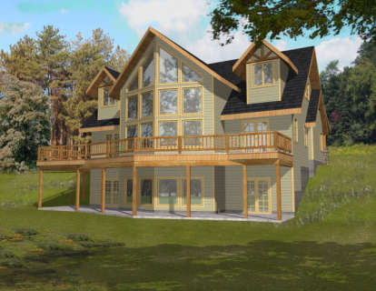 3 Bed, 2 Bath, 2281 Square Foot House Plan #039-00448