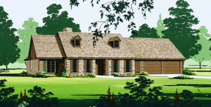 4 Bed, 2 Bath, 1997 Square Foot House Plan - #048-00109