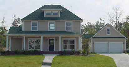 3 Bed, 2 Bath, 2139 Square Foot House Plan - #6082-00088