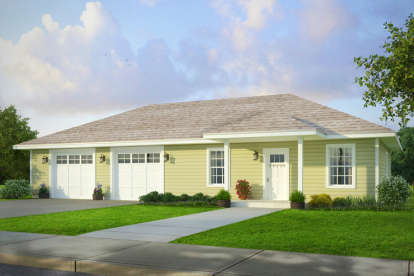 1 Bed, 1 Bath, 1740 Square Foot House Plan - #035-00765