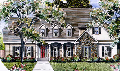 5 Bed, 4 Bath, 3020 Square Foot House Plan - #6082-00106