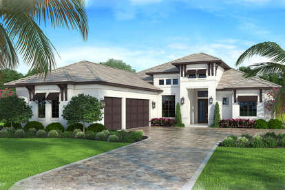 4 Bed, 3 Bath, 2400 Square Foot House Plan #207-00044