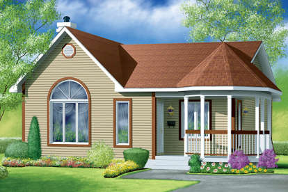 2 Bed, 1 Bath, 1040 Square Foot House Plan - #6146-00282