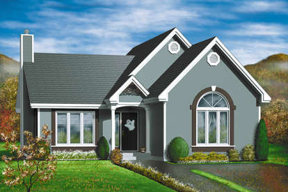 2 Bed, 1 Bath, 1212 Square Foot House Plan - #6146-00285
