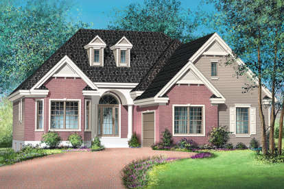 2 Bed, 2 Bath, 1421 Square Foot House Plan - #6146-00309
