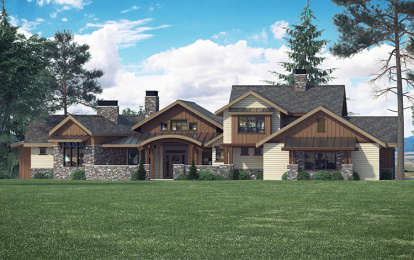 4 Bed, 4 Bath, 3988 Square Foot House Plan #5631-00062