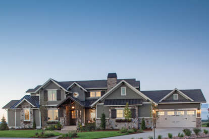 4 Bed, 3 Bath, 3897 Square Foot House Plan #5631-00063
