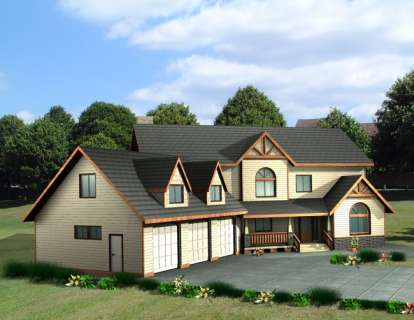 4 Bed, 3 Bath, 3430 Square Foot House Plan - #039-00453