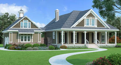 3 Bed, 2 Bath, 1775 Square Foot House Plan #048-00254