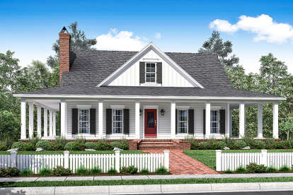 3 Bed, 2 Bath, 2084 Square Foot House Plan - #041-00154