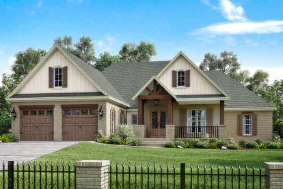 4 Bed, 2 Bath, 2329 Square Foot House Plan - #041-00155