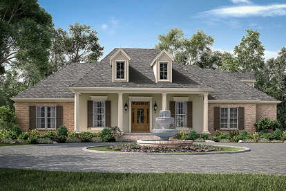 4 Bed, 2 Bath, 2396 Square Foot House Plan - #041-00157