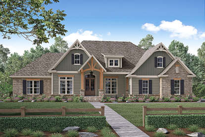 4 Bed, 2 Bath, 2641 Square Foot House Plan #041-00159