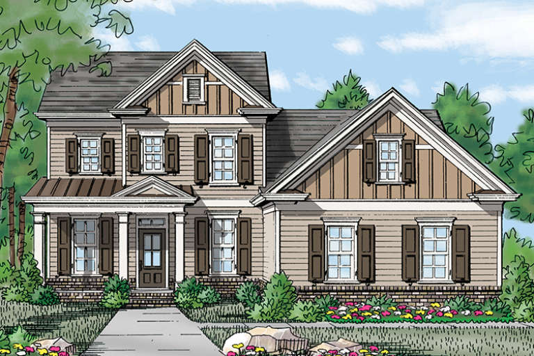 Traditional House Plan #3418-00009 Elevation Photo