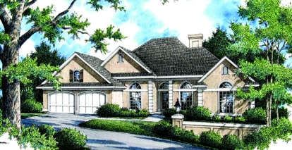 4 Bed, 2 Bath, 1917 Square Foot House Plan - #048-00116