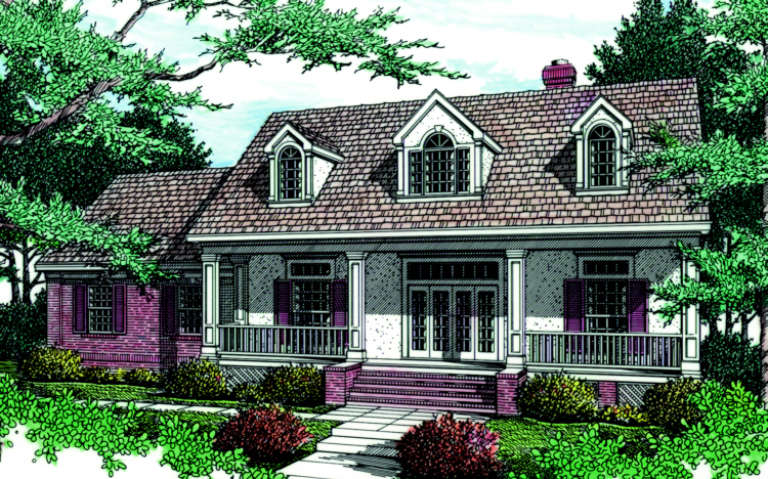 Traditional House Plan #048-00117 Elevation Photo