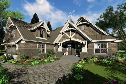4 Bed, 3 Bath, 2372 Square Foot House Plan - #098-00273