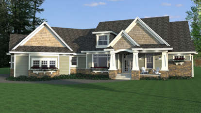 3 Bed, 2 Bath, 2881 Square Foot House Plan - #098-00279