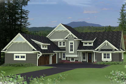 4 Bed, 3 Bath, 3773 Square Foot House Plan - #098-00283