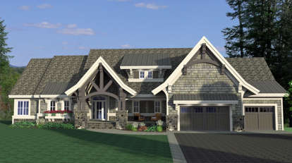 4 Bed, 2 Bath, 4289 Square Foot House Plan - #098-00286