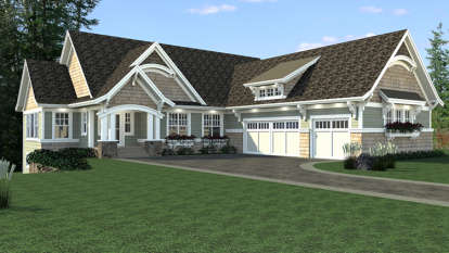 4 Bed, 2 Bath, 4320 Square Foot House Plan - #098-00287