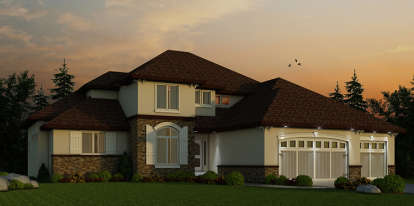 4 Bed, 3 Bath, 3553 Square Foot House Plan - #402-01447