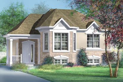 3 Bed, 1 Bath, 1109 Square Foot House Plan - #6146-00332