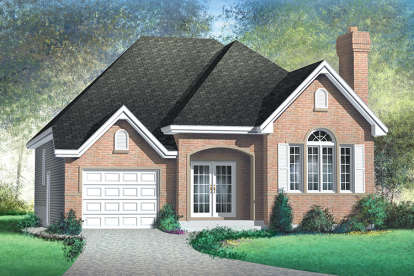 2 Bed, 2 Bath, 1311 Square Foot House Plan - #6146-00333