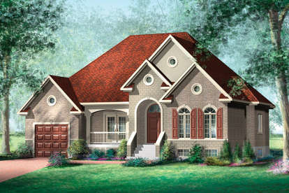 2 Bed, 2 Bath, 1490 Square Foot House Plan - #6146-00340