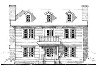 3 Bed, 2 Bath, 2280 Square Foot House Plan - #028-00027