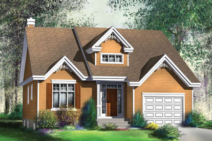 2 Bed, 2 Bath, 1367 Square Foot House Plan - #6146-00356