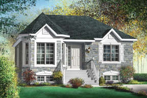 European House Plan #6146-00372 Elevation Photo